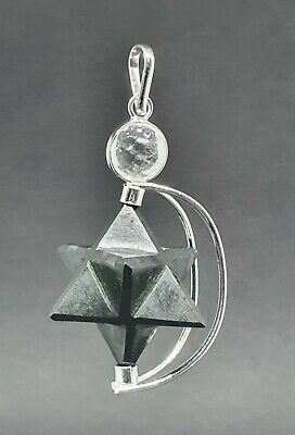 Black Tourmaline Crystal Merkaba Pendulum (Removable) Dowser Geometric Healer UK • 9.49£