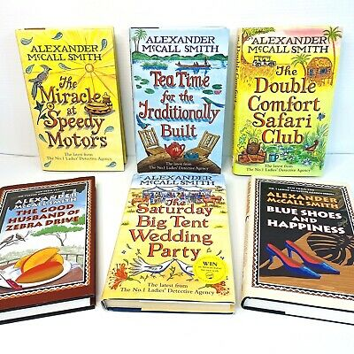 AU75 • Buy #1 LADIES DETECTIVE AGENCY Alexander McCall Smith 6 VGC HARDCOVER Books 1st Ed