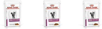 Royal Canin Renal Cat Food Wet Veterinary 3 Box Of Chicken Beef Fish Feline...  • 61.55£