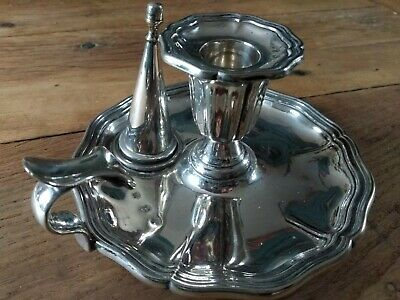 Victorian Elkington Plate Silver Candle Holder And Snuffer • 45£