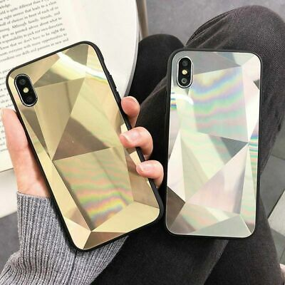 Diamond 3D Bling Mirror Case For IPhone 11 Pro Max XR XS 8 Phone Silicone Cover • 3.99£