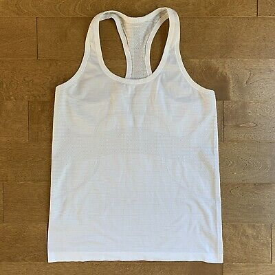 $ CDN41 • Buy Lululemon Swiftly Tech Racerback Tank Size 10 Heathered White Running Top