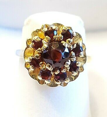 £304.51 • Buy Madeira Citrine Flower Floral Ring 14k Yellow Gold