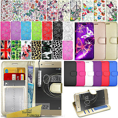 AU8.82 • Buy For Sony Xperia XA1 -Wallet Leather Case Flip Stand Cover + Screen Protector
