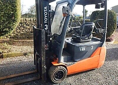 Toyota Fbet18 3 Wheel Electric Forklift Counterbalance Ref Fto4815 • 7,500£