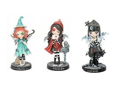 I'll Put A Spell On You + Missing You Red Hooded Fairy Witch And Broomstick New • 24.95£