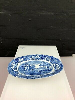 Spode Italian Blue And White Miniature Oval Serving Dish 5.25  X 3  • 14.99£