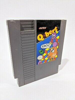 $ CDN15.21 • Buy Nintendo NES Q*bert Qbert Q Bert Video Game Cartridge *Authentic/Tested*