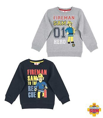 New Jumper Sweatshirt Boys Fireman Sam Grey Blue 98 104 110 116 128 #21 • 14.19£