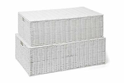 ARPAN Resin Woven Under Bed Storage Box, Chest Shelf Toy Clothes Basket With Lid • 48.60£