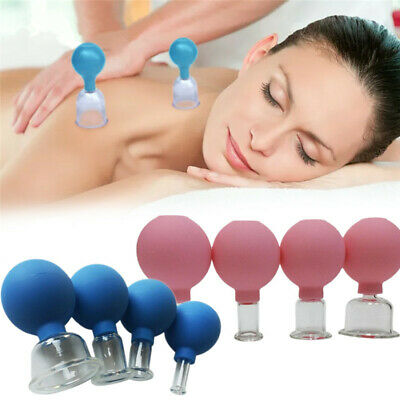 £14.99 • Buy Anti Cellulite Massage Vacuum Suction Therapy Body Facial Cupping Cup For 4 Cups