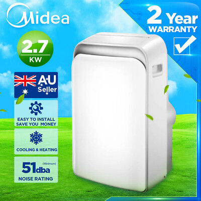 AU609 • Buy MIDEA PORTABLE Cooling&Heating Air Conditioner (2.7kw)Refrigerated Summer Cooler