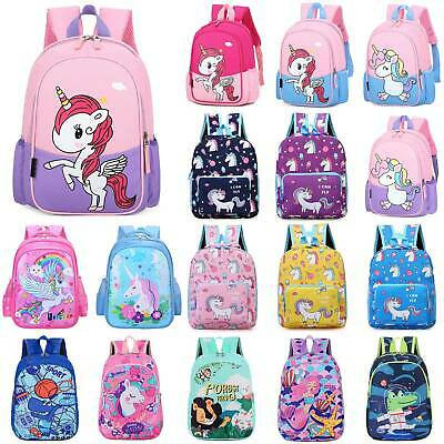 AU21.27 • Buy Kids Girls Children Cartoon Rucksack Unicorn Backpack School Book Shoulder Bag