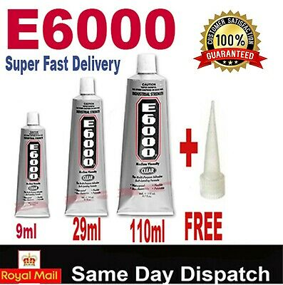 Original E6000  110ml  29ml  9ml Glue Multi-Purpose Industrial Strength-FREE UK. • 4.99£