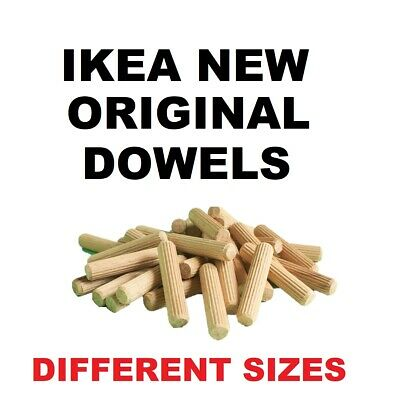 IKEA 25x DOWELS WOODEN HARDWOOD CHAMFERED PIN WOOD BEECHWOOD Many SIZES • 3£