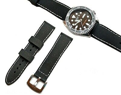 $ CDN12.41 • Buy Mens Watch Silicone Band Sport Rubber Strap 22mm For Seiko Skx007 Skx007k2