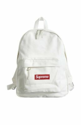 $ CDN287.11 • Buy Supreme Canvas Backpack White Box Logo FW20 2020 Rare Limited Red