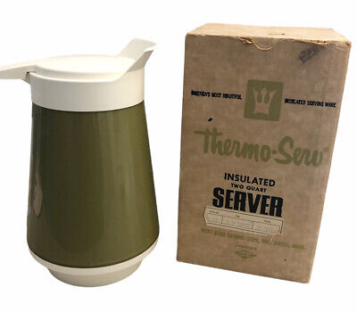 AU25.79 • Buy Vintage Thermo-Serv Sea Mist Insulated Server Carafe Pitcher With Box