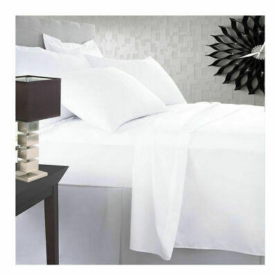 600-800-1000 TC 100%Egyptian Cotton Hotel Super Soft White Bedding's In Solid • 44.98£