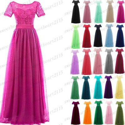 £26.06 • Buy Formal Chiffon/Lace Long Bridesmaid Evening Wedding Dresses Gown Prom Dress 6-30