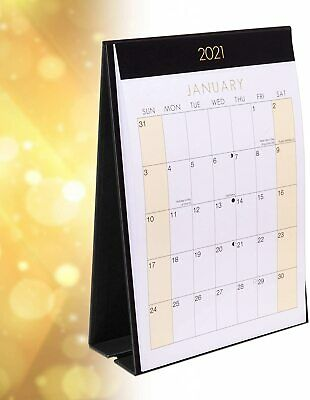 £3.25 • Buy 2021 Month To View Stand Up Desk Office Top Calendar Planner Freestanding