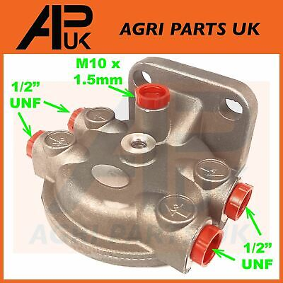 £11.30 • Buy Fuel Filter Head Housing 1/2  For Ford 3600 3610 3910 4000 4100 Tractor