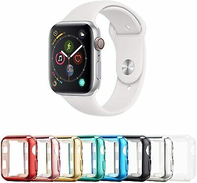 $ CDN8.25 • Buy For Apple Watch Series 6 5 4 SE 3 2 1 IWatch Screen Protector Shiny Case