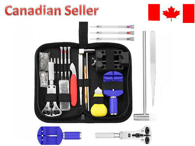 $ CDN22 • Buy 147pcs Watch Repair Tool Kit Opener Link Remover Spring Bar Hammer + Back Case