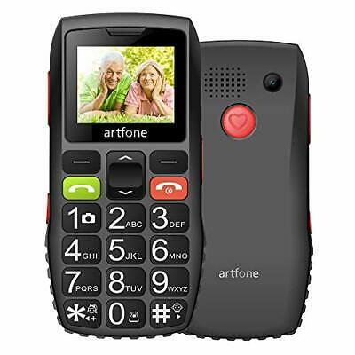 Artfone Big Button Mobile Phone For Elderly Unlocked Senior Sim Free With SOS • 34.30£