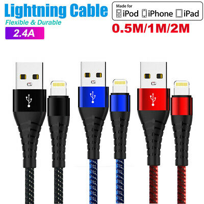 AU6.95 • Buy 1M 2M 3M USB Lightning Charger Cable Cord Data For Apple IPhone IPad IPod Air 3