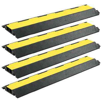 Cable Protector Ramp 1 /2 /3 Channel Rubber Floor Wire Road Cover Conduit Safety • 23.25£