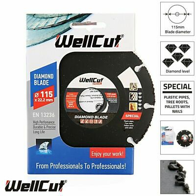 £8.10 • Buy WellCut Diamond Blade Special Wood 115x22 Bore 0.23 Thickness 334-115/22
