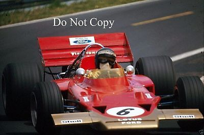 Jochen Rindt Gold Leaf Team Lotus 72C Winner French Grand Prix 1970 Photograph 3 • 4£