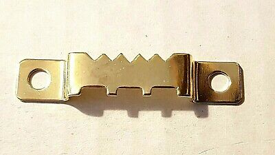 Saw Tooth Picture Hangers 42mm Brass Plated Canvas Frame Picture Framer • 2.99£