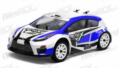 MicroX Racing 1/24 Scale Micro RC Rally Car Electric RTR Ready To Run 2.4G BLUE • 45.99£