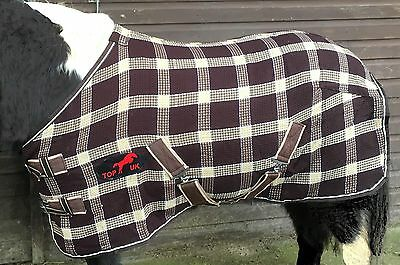 £20.75 • Buy PONY BROWN AND BEIGE WAFFLE/COOLER RUGS.5'0 /'5'3 /'by Top Horse Uk