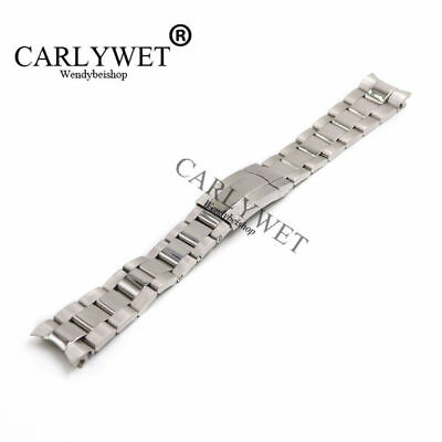 $ CDN30.72 • Buy 20mm Silver Steel Watch Band Solid Curve End Oyster Bracelet For Submariner