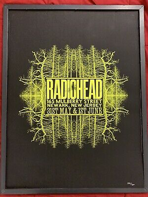 $199.99 • Buy RADIOHEAD 2009 Newark, New Jersey Limited Edition Numbered Print Concert Poster