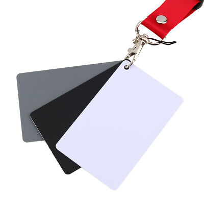 3 In 1 18% Digital Photography Exposure Card Set Gray / White / For Digital And • 3.01£