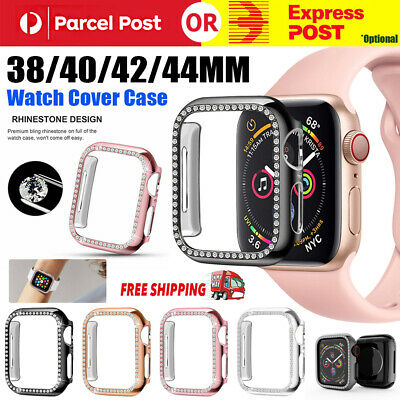 AU4.99 • Buy For Apple Watch Series 6 5 4 3 21 Bling Protector Case Cover Bumper Screen Frame