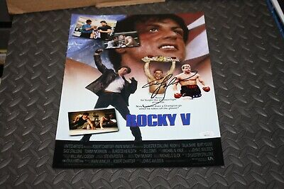 Rocky V Tommy Morrison Signed Collage 11x14 Stallone • 22.46£