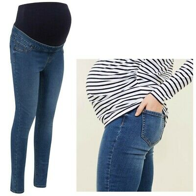 Maternity New Look Over Bump Skinny Jeggings Blue Sizes 8 - 18 • 10.99£