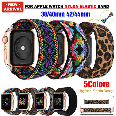 AU9.99 • Buy For Apple Watch Series 6 SE 5 4 3 2 IWatch Band Nylon Elastic Strap 38 40 42 44