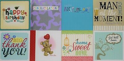 Pack Of 8 Mixed Assorted Happy Birthday Thank You Card, Get Well Card, New Home • 4.99£
