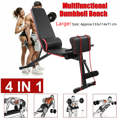 Heavy Duty Weight Bench Adjustable Gym Workout Exercise Incline Decline Sit Up • 59.99£