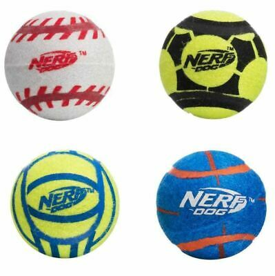 £8.99 • Buy NERF Dog Sports Tennis Balls Mega Tuff Max Strength Solid Rubber 2 Or 4 Pack