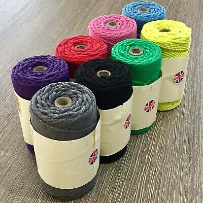 Thick Coloured Jute Rope - 6mm Chunky Twine - Craft Gift Wrap • 2.99£