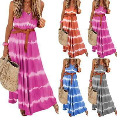 AU20.79 • Buy Boho Plus Size Women Summer Beach Holiday Dresses Ladies Casual Long Maxi Dress