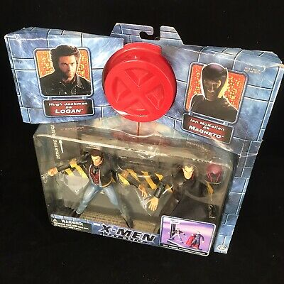X-MEN Movie Wolverine And Magneto Action Figure Toy NEW • 46.99£