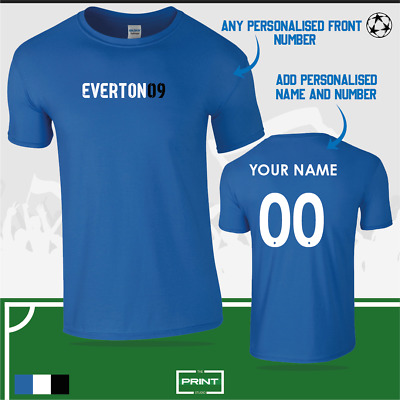 Everton Personalised Football Fan T-Shirt Toffees Goodison *FREE DELIVERY • 11.99£